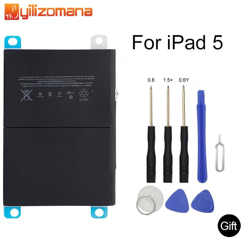 YILIZOMANA Original Tablet Battery For IPad 5 IPad Air 8827mAh Original Replacement Battery For IPad5 A1484 A1474 A1475 + Tools