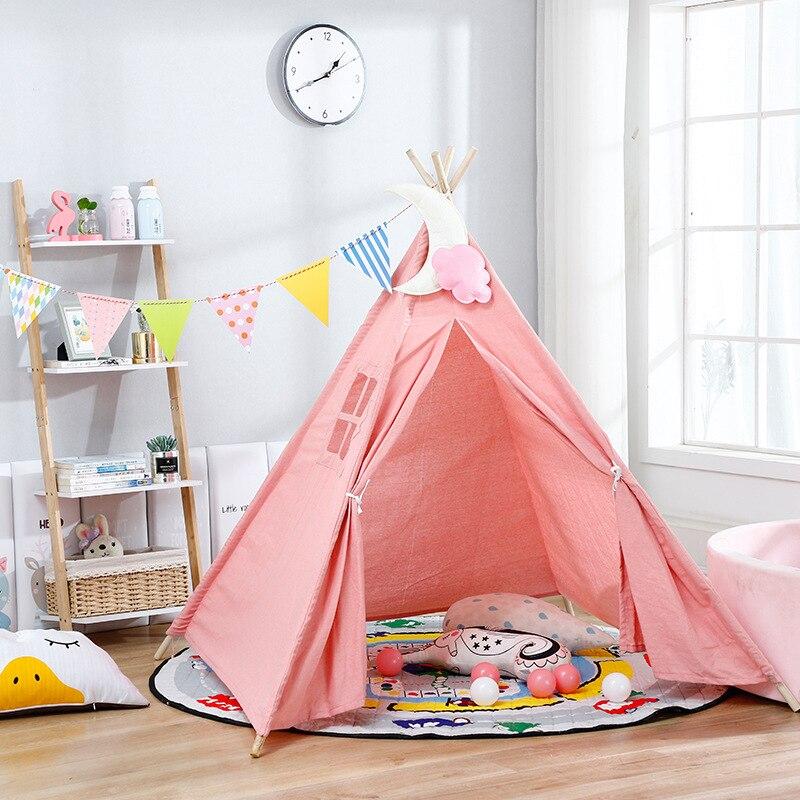 1 35 M Grote Kinderen Tent Wigwam Draagbare Indiase Kinderen Tent Tipi Indoor Baby Playhouse Opvouwbare