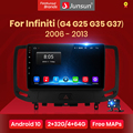Автомагнитола Junsun V1 для Infiniti, мультимедийный видеоплеер на платформе Android 10,0 с GPS-навигацией для Infiniti G4 G25 G35 G37 2006-2013, 2 din, dvd