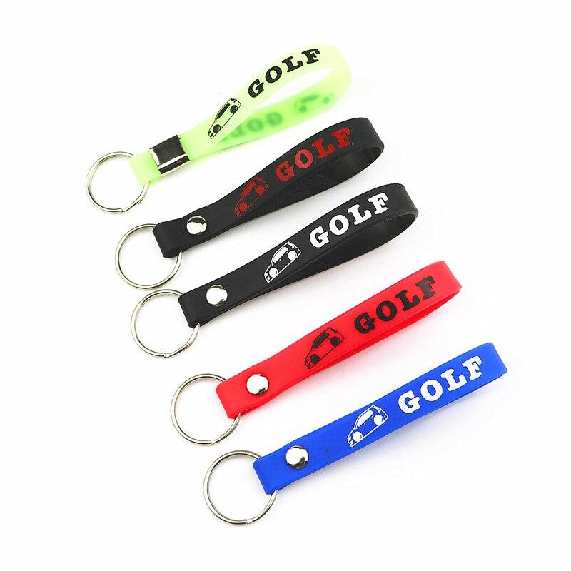 Luminous Silicone Car Sticker Key Ring For Volkswagen VW Golf 4 5 6 7 Polo Passat B5 B6 B7 Touran Tiguan Bora Car Styling