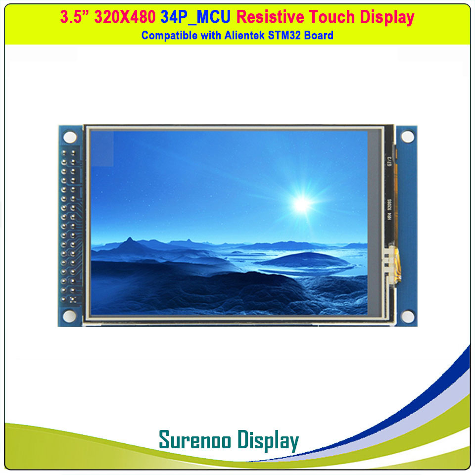 3.5 Inch 480*320 16-Bit Parallel MCU ILI9486 TFT LCD Module Display Screen W/ XPT2046 Resistive Touch Panel & PCB Adpater