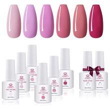 Top-Coat Makartt Nail-Polish-Base Blossom-Series Uv Led 6-Colors Pink Winter Gel 8ml