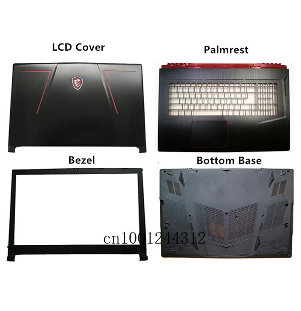 New Original For MSI GE73 GE73VR LCD Rear Top Lid Back Cover/Bezel /Palmrest /Lower Bottom Base Case Cover
