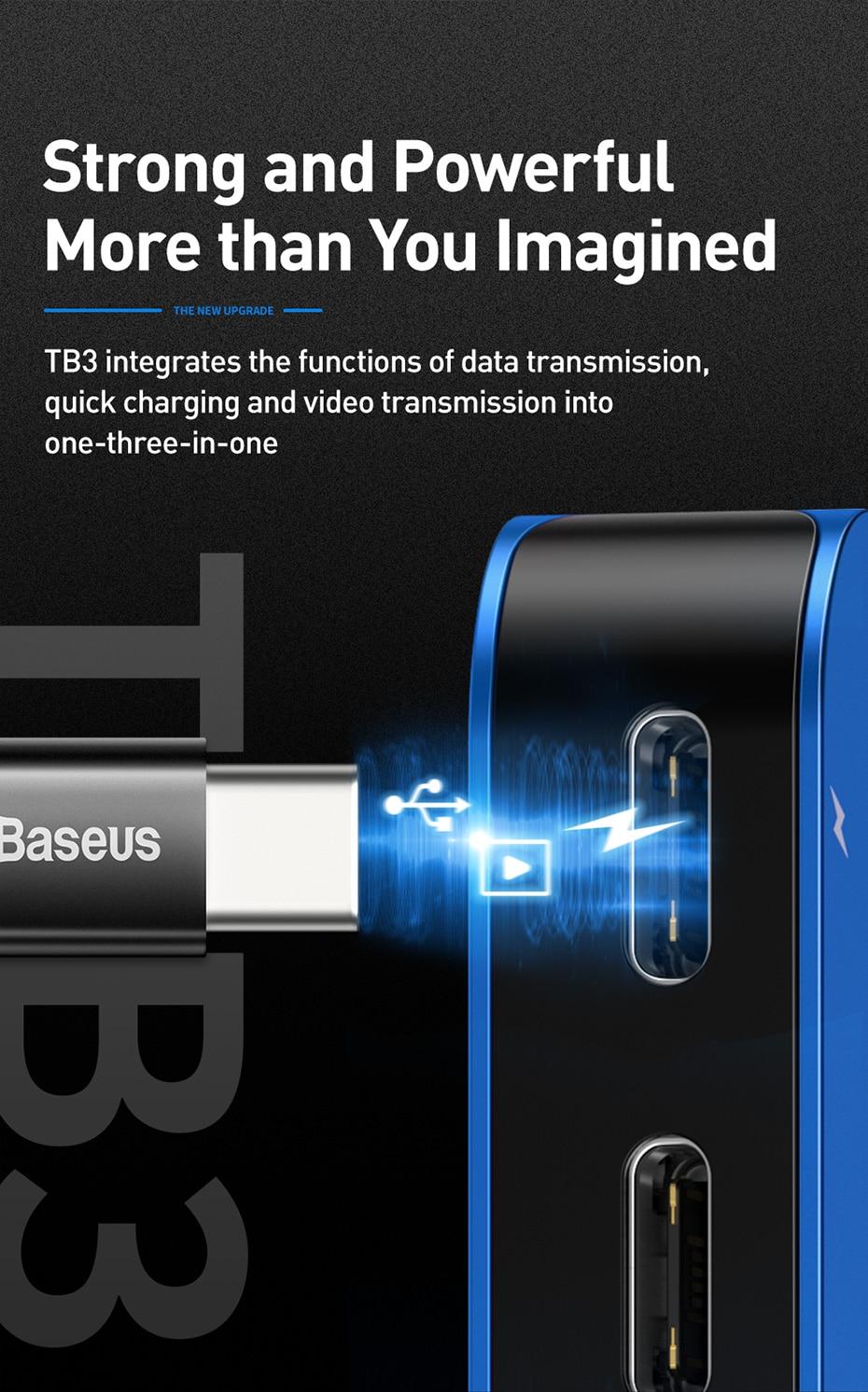 Baseus Transparent Series Dual-Port Type-C Multifunctional HUB 11