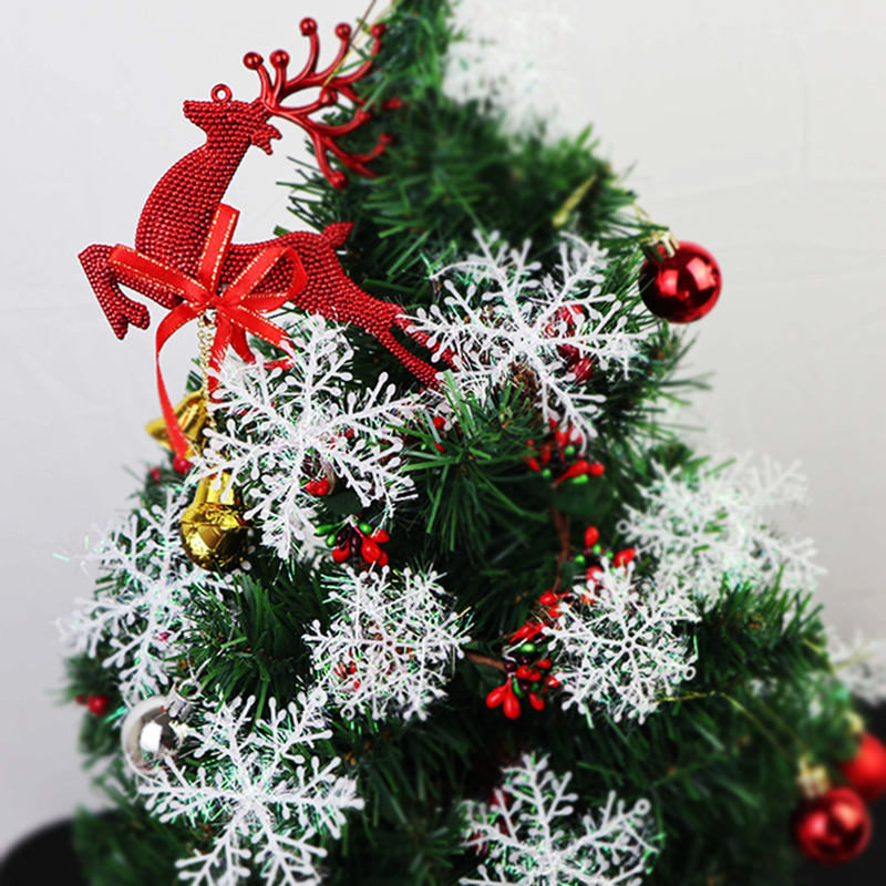 12pcs Artificial Snowflake Christmas Tree Decorations Snow Flakes for Home Hanging Pendants Xmas New Year Ornaments Window Decor