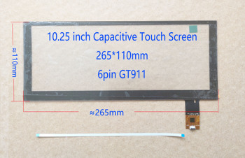 10.25 inch Touch Screen Sensor Digitizer For BMW F10 F11 BENZ AUDI A4 A5 A6 Land Rover GT911/928/9271 265*110MM image