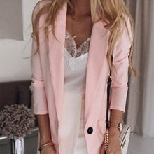 Plus Size Notched Women's Blazer