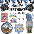 Пиратская тема вечерние одноразовая посуда принадлежности для рождения детей салфетки пластины чашки баннер шар corsair торта украшения