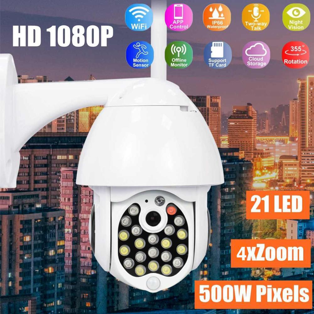 GUUDGO 21 LED kamera IP 4X Zoom WiFi Dome kolorowy noktowizor IP66 wodoodporna kamera monitorująca Pan/Tilt Rotati Security