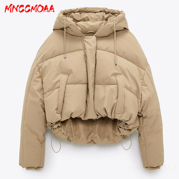 2020 New Winter Thick Warm Hooded Parka Coat Women Solid Zipper Jacket Outwear Female Casual Loose Short Tops Ladies 2020 parka winter women jacket fur collar hooded winter warm thick short parka winter coat outwear jacket