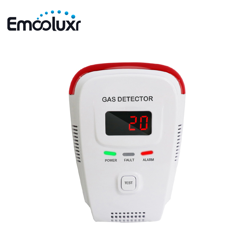 LPG Natural Gas Leakage Sensor AC220V Plug In Portable Gas Detector Voice Warning For Household Security