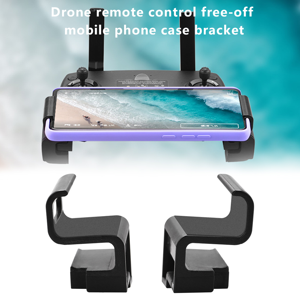 2pcs Phone Holder USB Hole Design Clip Mount Widen Non Slip Left Right ABS Stand Bracket Drone Remote Control For Mavic 2 PRO