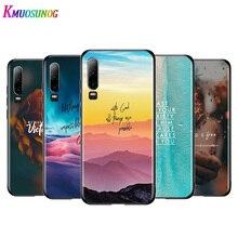 Bible Verse Jesus Christian Black Cover For Huawei P40 P30 P20 P10 P9 P8 Lite E 5G 2017 2019 Pro Plus Phone Case