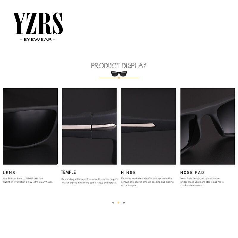 YZRS Brand Retro Sunglasses Men Goggles Poalrized Driver UV400 Sport Fashion Outdoor Sun Glasses Plastic Eyewear in Men 39 s Sunglasses from Apparel Accessories
