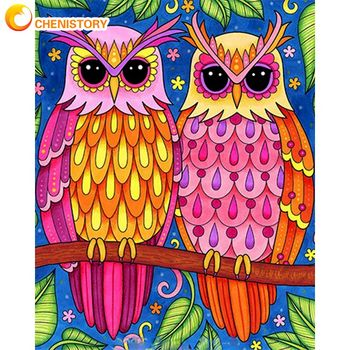 Painting By Numbers Bright Colourful Owls