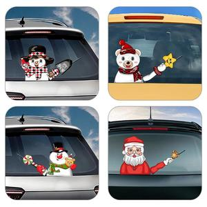 Image 5 - Christmas Car Rear Windshield Wiper Stickers Removable Waterproof Windscreen Window Decals Universal Auto Styling Decoration