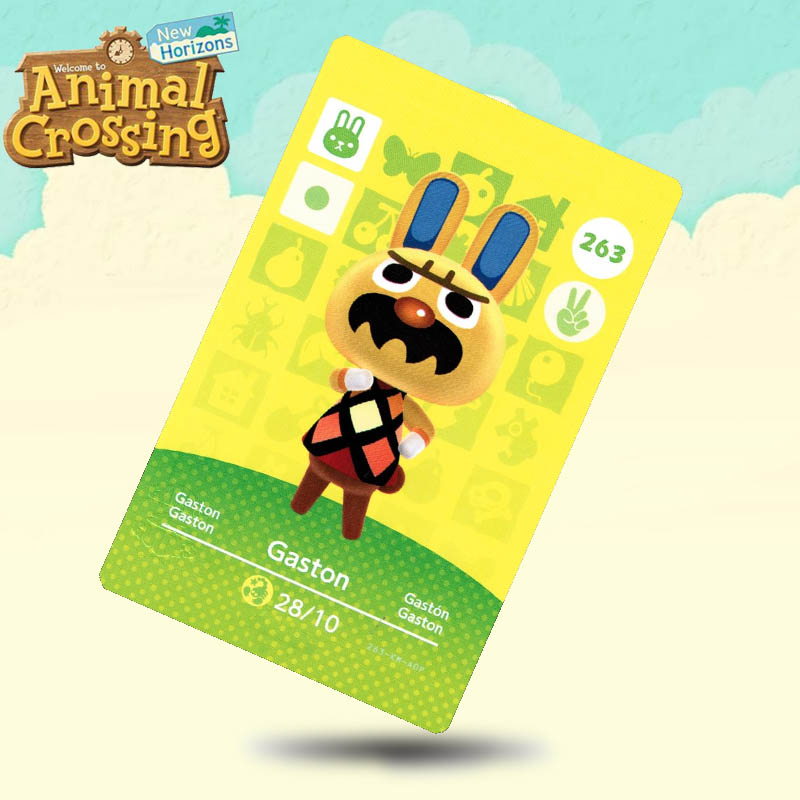 263 Gaston Animal Crossing Card Amiibo Cards Work For Switch NS 3DS Games