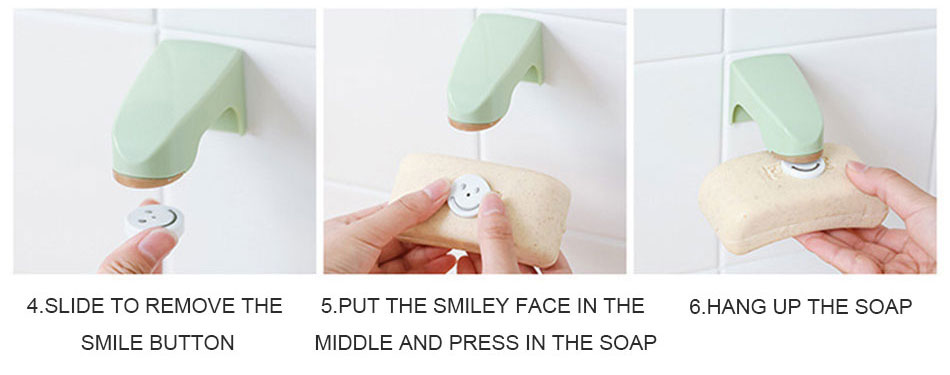 未标题-1_08_02 Bathroom Accessories Magnetic Soap Holders Wooden Soap Dish with Sticker Soap Shelves 5 Colors Wall Mounted Storage Rack