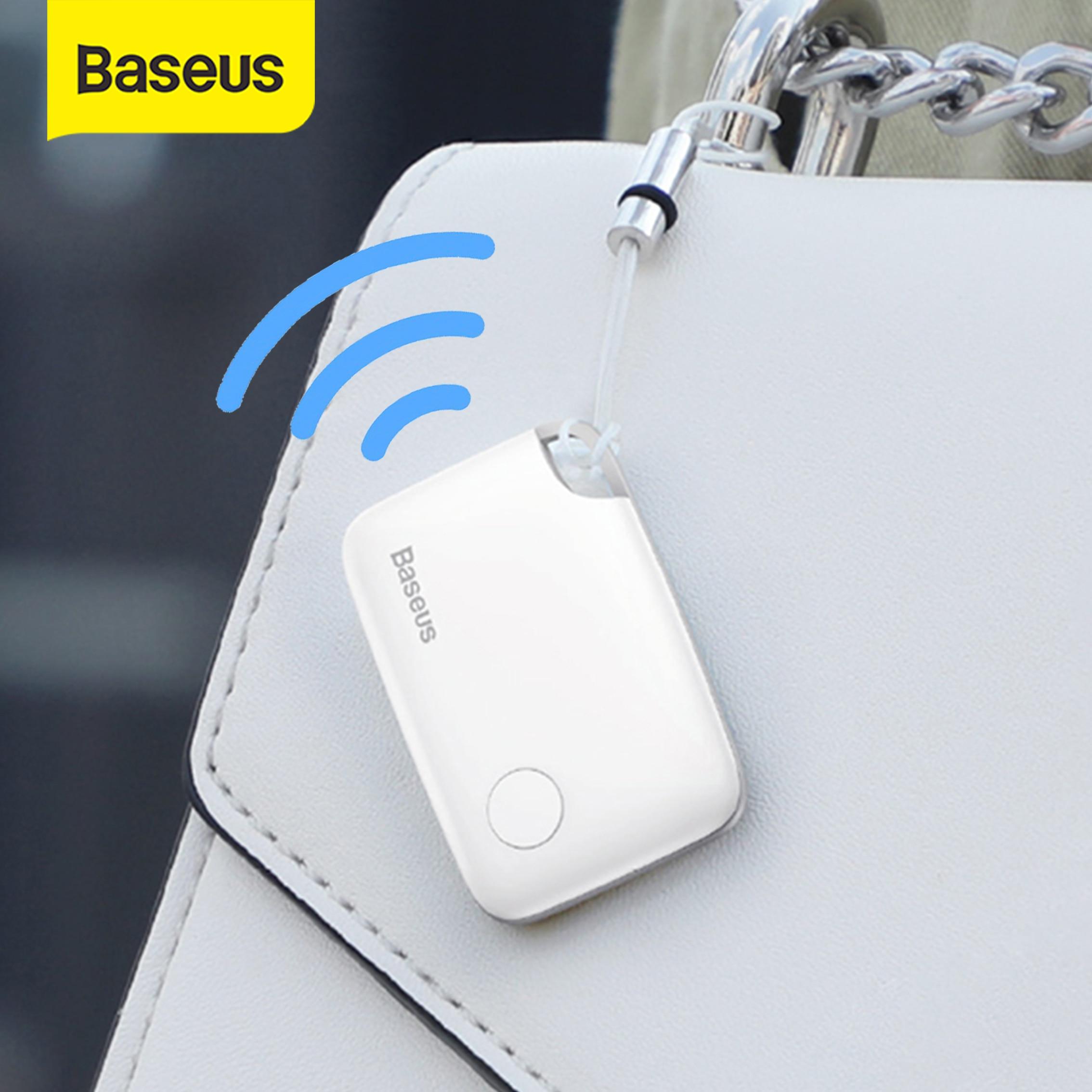 Смарт-трекер Baseus, мини-трекер с защитой от потери, Bluetooth, смарт-Искатель для детей, ключей, телефонов, сигнализация, умный тег, локатор для пои...