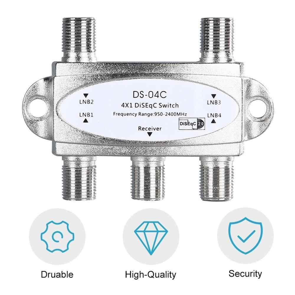 4 で 1 4 × 1 Diseqc は 4 双方向広帯域スイッチ DS-04C 高分離接続 4 衛星放送の料理 4 LNB 衛星受信機
