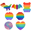 Rainbow Pop Fidget Reliver Stress Toys Push Bubble Antistress Toys Adult Children Sensory Toy To Relieve Autism Shipping Free