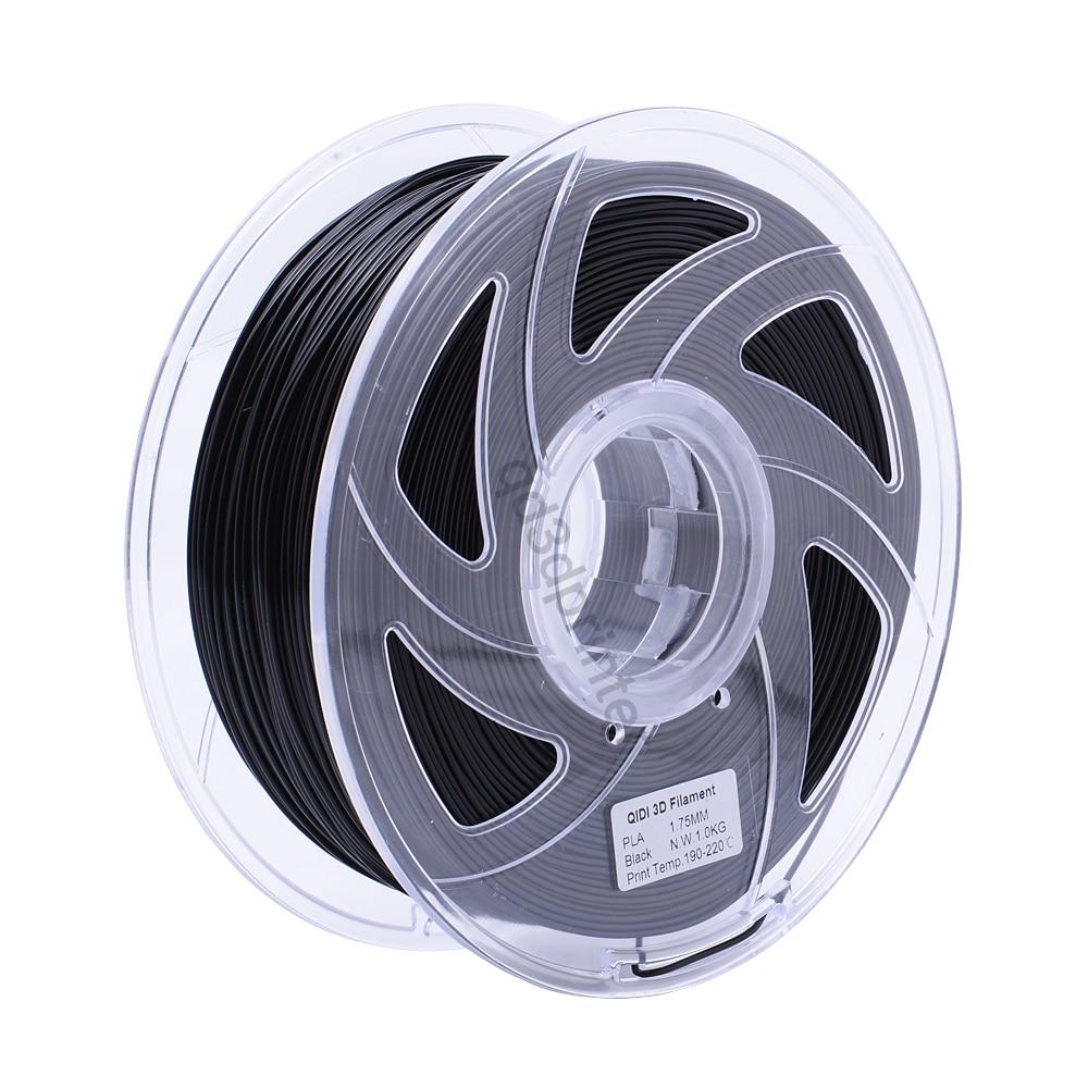 QIDI TECH High Quality 3D Printer Filaments PLA 1.75mm black colour 1kg