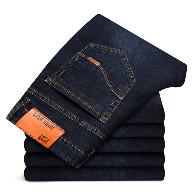 Business Style Slim fit Straight Jeans  4