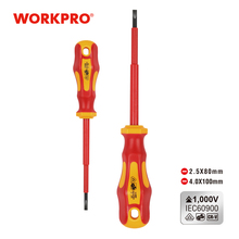 Insulated Screwdriver Hand-Tools WORKPRO VDE 1000V Durable CR-V Slotted High-Voltage