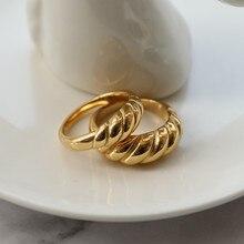 Joolim High End PVD Überzogene Finger Ringe für Frauen Croissant Ringe Trend Edelstahl Ringe Großhandel