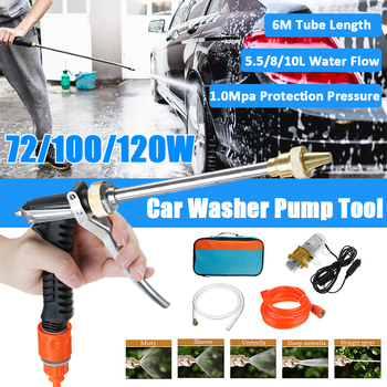 250PSI 12V Household Car Cleaning 120w Portable Pump High Pressure Washer Electric Car Wash Water Gun Car Washer Washing Machine image