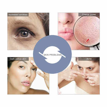 5 In 1 LED Photon Therapy Facial Skin Lifting Rejuvenation Beauty Device Ultrasonic Vibration Face Pore Cleaner Cleaning Machine