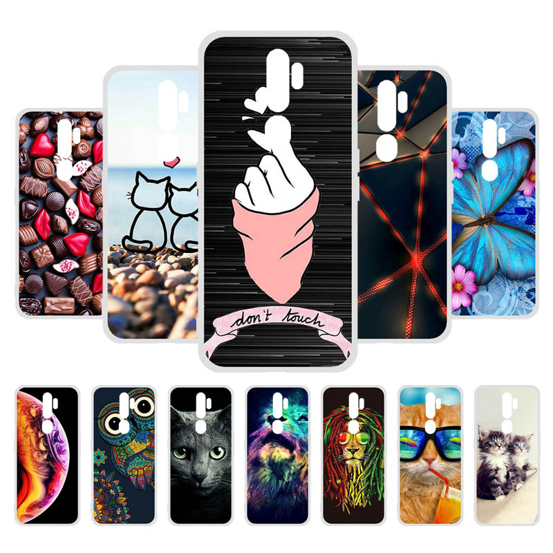 3D DIY Phone Cases For OPPO A9 2020/A11x/A5 2020 Case Silicone Colorful Anti-knock Back Cover Painted TPU Back Bumper Shell Skin image