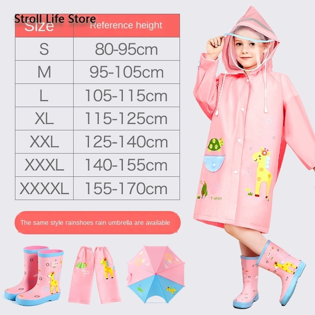 Yellow Boy Raincoat Kids Rain Poncho Cute Cartoon Plastic Suit Rain Coat Pants Set Windbreaker Waterproof Coat Impermeable Gift 2
