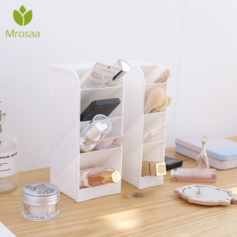 Case Cosmetic Pencil-Holder Makeup-Organizer Desktop-Storage-Box Office-Desk 4-Grids