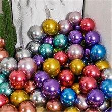 50 шт 5 дюймов хромированные шары из латекса цвета металлик золотые серебряные круглые металлические шары для дня рождения надувные глобусы ...