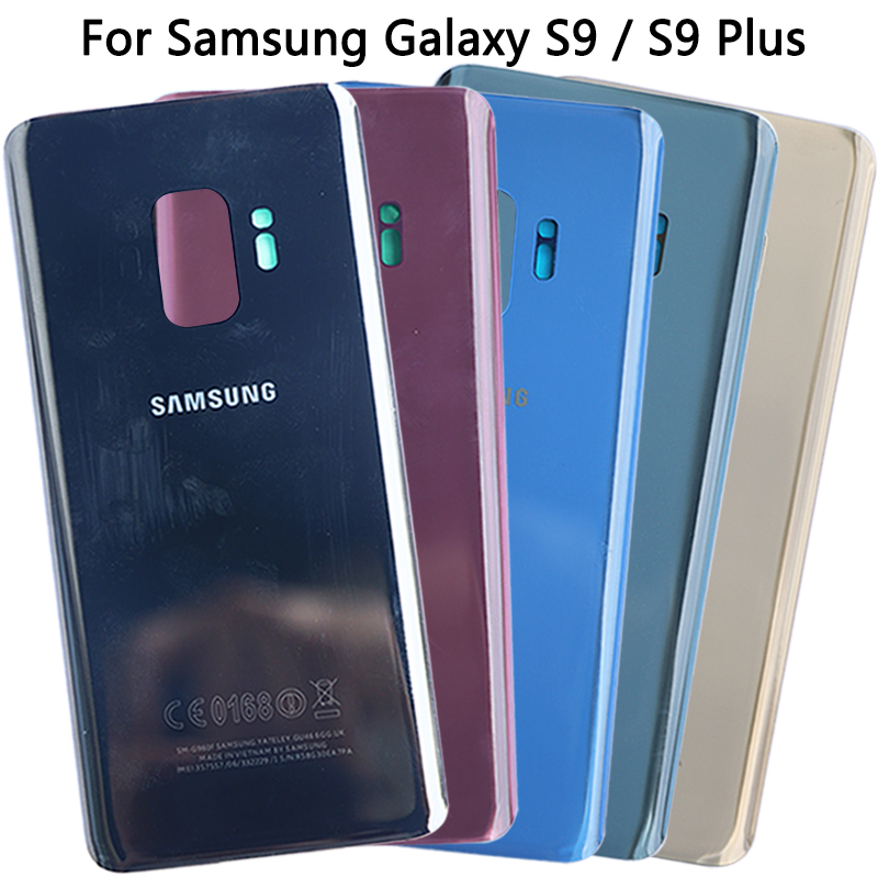 For Samsung Galaxy S9 G960 / S9 Plus G965F Battery Cover Rear Housing Case Original New For S9 Back Cover Glass + Sticker