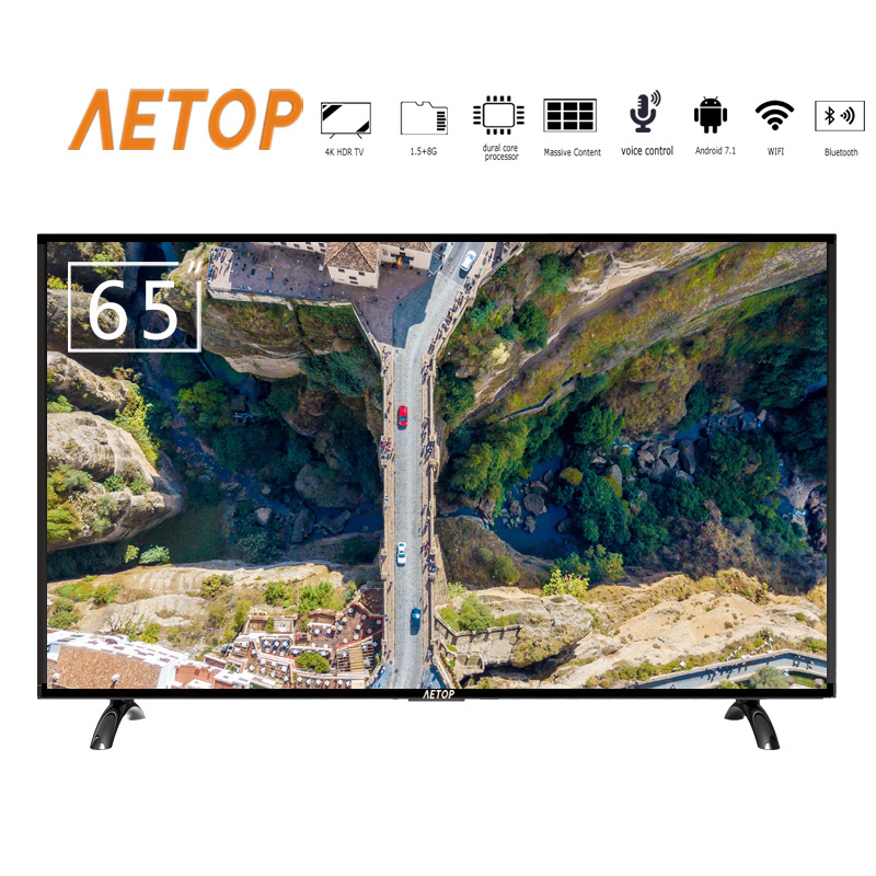 free shipping-hot sale television smark tv adnroid 4k ultra hd flat screen 65 inch tv