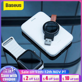 Baseus Portable Watch Charger for Apple Watch Charger Series 5 4 3 Magnetic USB Charger Fast Wireless Charging Pad For iP Watch