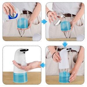 Image 5 - موزع سائل الصابون 250 مللي غسل اليد غسالة الأشعة تحت الحمراء الاستشعار التلقائي المحمولة رغوة الصابون السائل موزع للمطبخ الحمام