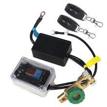 وحدة التحكم عن بعد اللاسلكية الشاملة ADPOW بطارية السيارة 12 فولت قطع المعزل التبديل الرئيسي عرض الفولتميتر + قفازات