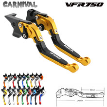 цена на For Honda CNC adjustable telescopic motorcycle brake clutch lever VFR750 VFR 750 1991 1992 1993 1994 1995 1996 1997