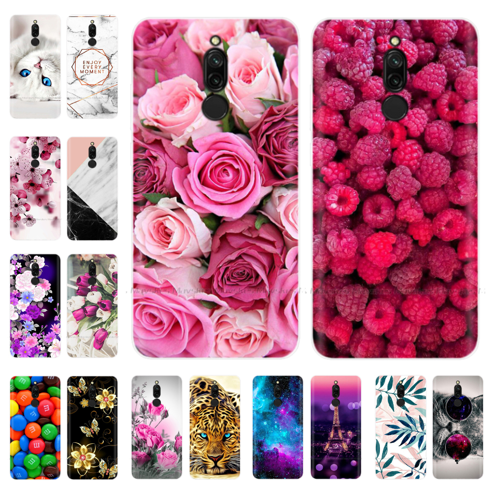 Flower Printed Case For Xiaomi Redmi 8 Case Soft TPU Silicone Cover For xiaomi redmi 8 Phone Case redmi8 Cover Shell Bags Coque
