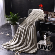 цена на Flannel blankets , valet velvet air-conditioned  single double thickened   blanket Christmas gift