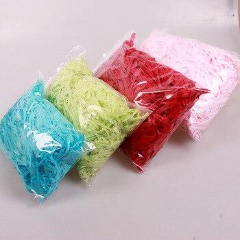 Cajas de caramelos de papel arrugado y triturado de rafia de 50g, Material de relleno de cajas DIY, paquete de pañuelos para regalos de fiestas decoración de relleno