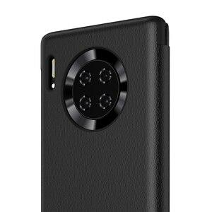 Image 5 - Чехол для смартфона Huawei, прозрачный зеркальный флип чехол для Huawei Mate30 Mate 30 Pro, умный чехол для телефона с функцией сна