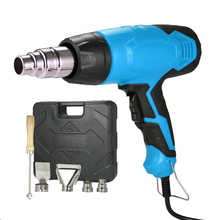 2000W 220V EU Electric Hot Air Gun Temperature controlled Building Hair dryer Heat guns Soldering with 4 Nozzles power tools