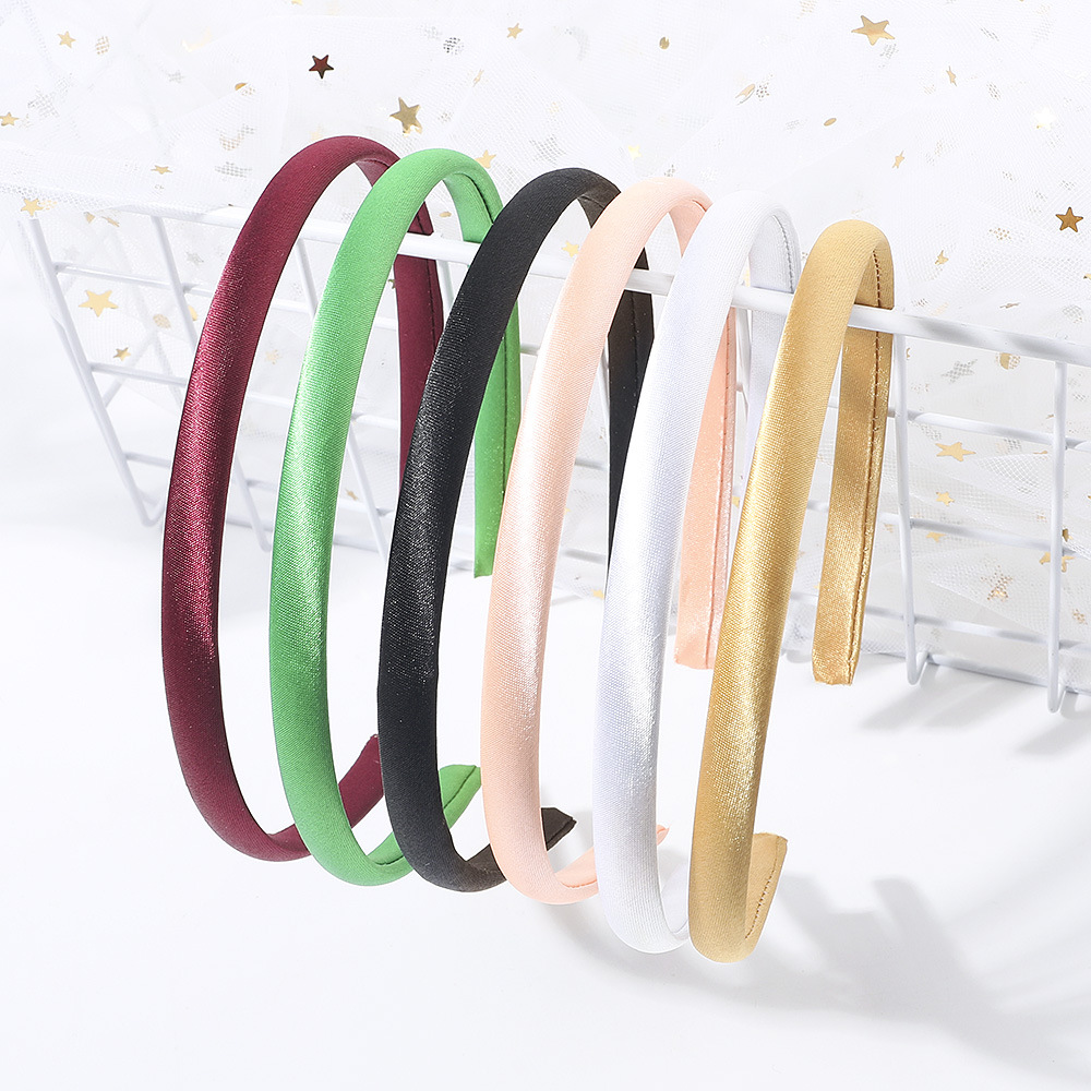 6pcs/lot New Candy-colored Cloth Headband Material For Girl Women Hair Accessory Headdress