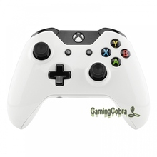 White Custom Replacement Front Bottom Shell Side Rails for Xbox One Controller (Model 1697)   Controller NOT Included