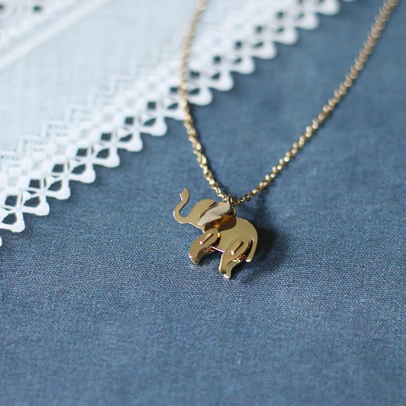 Кулон YUN RUO Elephant, ожерелье цвета розового золота, женская бижутерия из титановой стали, рождественский подарок, никогда не выцветает, Прямая ...