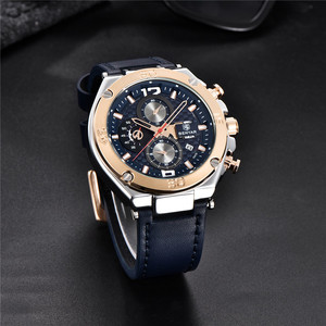 Image 4 - Watch Men BENYAR Fashion Sport Quartz Clock Mens Watches Top Brand Luxury Business Waterproof Leather Watches Relogio Masculino